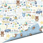 Imaginisce - Little Cutie Collection - 12 x 12 Double Sided Paper with Glossy Accents - Snips and Snails