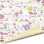 Imaginisce - Little Cutie Collection - 12 x 12 Double Sided Paper with Glossy Accents - Beyond Precious