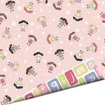 Imaginisce - Little Cutie Collection - 12 x 12 Double Sided Paper with Glossy Accents - Baby Doll