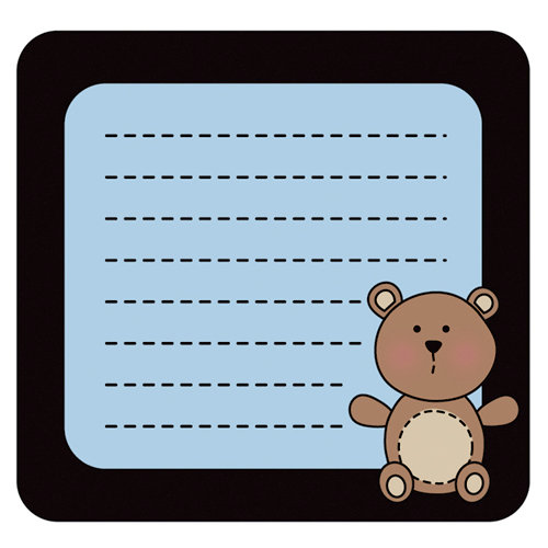 Imaginisce - Little Cutie Collection - Snag 'em Acrylic Stamps - Bear Frame