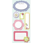 Imaginisce - Little Cutie Collection - Sticker Stackers - 3 Dimensional Stickers with Glossy Accents - Precious Memories - Girl