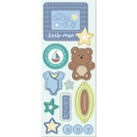 Imaginisce - Little Cutie Collection - Chipboard Stickers with Glossy Accents - Mommy's Little Boy