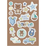 Imaginisce - Little Cutie Collection - Canvas Stickers - So Adored - Boy
