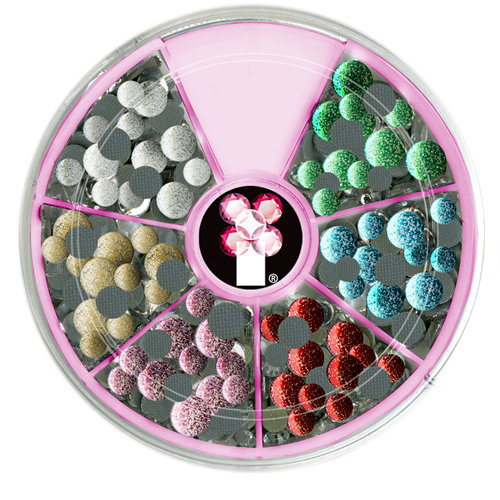 Imaginisce - I-Rock - Hot Rocks Compact - Self Adhesive Gems - Glitter Assortment