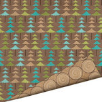 Imaginisce - Happy Camper Collection - 12 x 12 Double Sided Paper with Glossy Accents - Tree Hugger