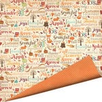 Imaginisce - Happy Harvest Collection - 12 x 12 Double Sided Paper with Glossy Accents - I Love Fall
