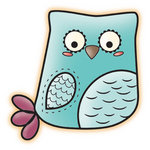 Imaginisce - Happy Harvest Collection - Snag 'em Acrylic Stamps - Owl