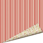 Imaginisce - Santa's Little Helper Collection - Christmas - 12 x 12 Double Sided Paper with Glossy Accents - Peppermint Stick
