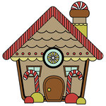 Imaginisce - Santa's Little Helper Collection - Christmas - Snag 'em Acrylic Stamps - Gingerbread House