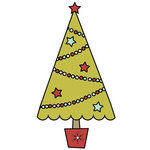 Imaginisce - Santa's Little Helper Collection - Christmas - Snag 'em Acrylic Stamps - Christmas Tree