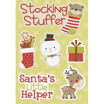 Imaginisce - Santa's Little Helper Collection - Christmas - Canvas Stickers - Holiday Wishes