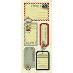 Imaginisce - Bon Voyage Collection - Sticker Stacker - 3 Dimensional Stickers with Glossy Accents - Luggage Tags