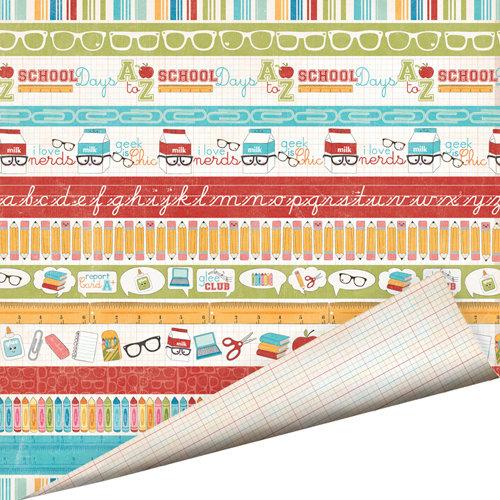 Imaginisce - Geek is Chic Collection - 12 x 12 Double Sided Paper with Glossy Accents - School Days