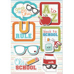 Imaginisce - Geek is Chic Collection - Sticker Stacker - 3 Dimensional Stickers with Glossy Accents - Back to School