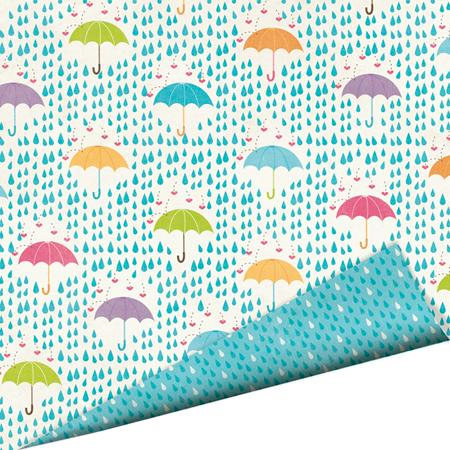 Imaginisce - Hippity Hop Collection - 12 x 12 Double Sided Paper with Glossy Accents - Dance in the Rain