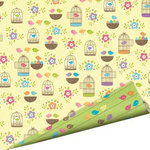 Imaginisce - Hippity Hop Collection - 12 x 12 Double Sided Paper with Glossy Accents - Chick-a-Dee