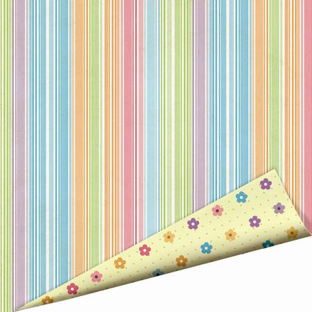 Imaginisce - Hippity Hop Collection - 12 x 12 Double Sided Paper with Glossy Accents - Spring Showers