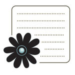 Imaginisce - Sole Sisters Collection - Snag 'em Acrylic Stamps - Flower Journal
