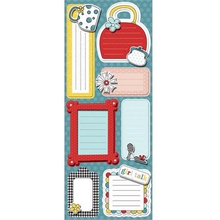 Imaginisce - Sole Sisters Collection - Sticker Stacker - 3 Dimensional Stickers with Glossy Accents - Girly Girl