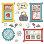 Imaginisce - Sole Sisters Collection - Die Cut Cardstock Pieces with Glossy Accents - Girl
