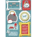 Imaginisce - Sole Sisters Collection - Sticker Stacker - 3 Dimensional Stickers with Glossy Accents - Girl's Night Out