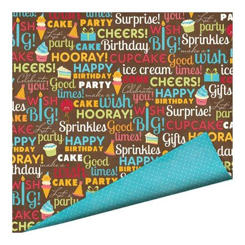 Imaginisce - Hello, Cupcake Collection - 12 x 12 Double Sided Paper with Glossy Accents - Cheers