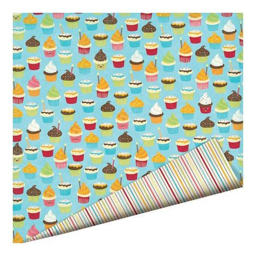 Imaginisce - Hello, Cupcake Collection - 12 x 12 Double Sided Paper with Glossy Accents - Birthday Hooray