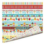 Imaginisce - Hello, Cupcake Collection - 12 x 12 Double Sided Paper with Glossy Accents - Let's Party