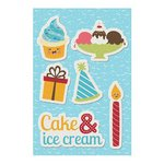 Imaginisce - Hello, Cupcake Collection - Canvas Stickers - Cake and Ice Cream