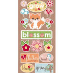 Imaginisce - Twitterpated Collection - Chipboard Stickers - Foxy and Friends