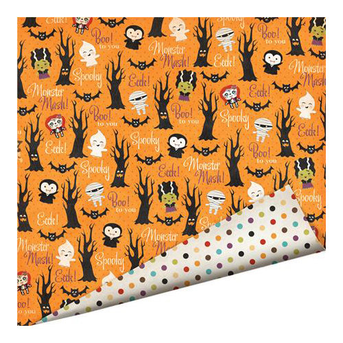 Imaginisce - Monster Mash Collection - Halloween - 12 x 12 Double Sided Paper with Glossy Accents - Haunted Forest