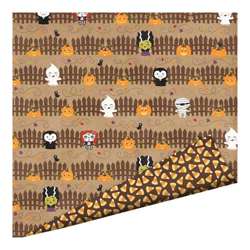 Imaginisce - Monster Mash Collection - Halloween - 12 x 12 Double Sided Paper with Glossy Accents - Spook Alley
