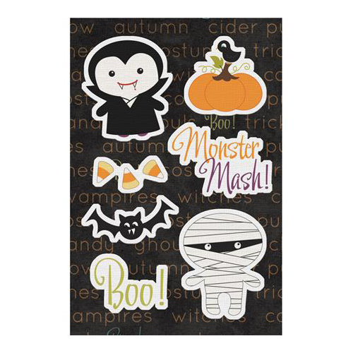 Imaginisce - Monster Mash Collection - Halloween - Canvas Stickers - Fright Night