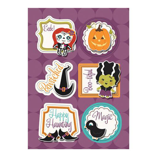 Imaginisce - Monster Mash Collection - Halloween - Sticker Stacker - 3 Dimensional Stickers with Glossy Accents - Boo-tiful Friends
