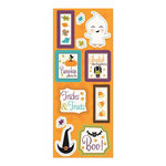 Imaginisce - Monster Mash Collection - Halloween - Chipboard Stickers with Glossy Accents - Chipboard Treats