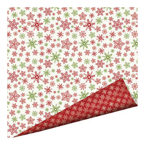 Imaginisce - Christmas Cheer Collection - 12 x 12 Double Sided Paper with Glossy Accents - Snowdrift