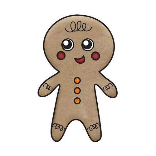 Imaginisce - Christmas Cheer Collection - Snag 'em Acrylic Stamps - Gingerbread Boy