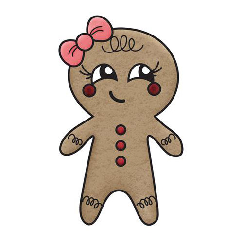 Imaginisce - Christmas Cheer Collection - Snag 'em Acrylic Stamps - Gingerbread Girl