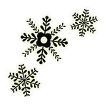 Imaginisce - Christmas Cheer Collection - Snag 'em Acrylic Stamps - Snowflake