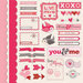 Imaginisce - Love You More Collection - 12 x 12 Cardstock Stickers - Love Birds