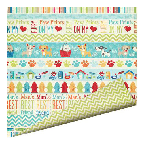 Imaginisce - Good Dog Collection - 12 x 12 Double Sided Paper - Dog Parade