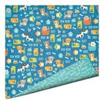 Imaginisce - Good Dog Collection - 12 x 12 Double Sided Paper - Dog Biscuits