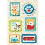 Imaginisce - Good Dog Collection - Sticker Stacker - 3 Dimensional Stickers with Glossy Accents - Fur-ever Friends