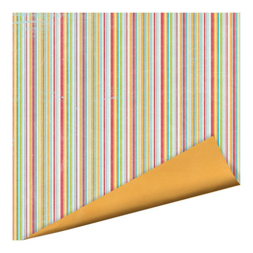 Imaginisce - Childhood Memories Collection - 12 x 12 Double Sided Paper - Fruit Stripe