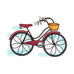 Imaginisce - Childhood Memories Collection - Snag 'em Acrylic Stamps - Bike