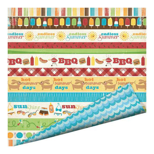 Imaginisce - Endless Summer Collection - 12 x 12 Double Sided Paper - Summer Picnic