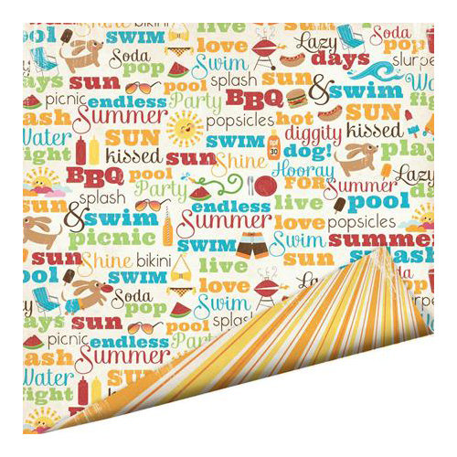Imaginisce - Endless Summer Collection - 12 x 12 Double Sided Paper - Sun Kissed