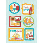 Imaginisce - Endless Summer Collection - Sticker Stacker - 3 Dimensional Stickers with Glossy Accents - BBQ