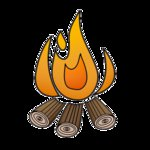 Imaginisce - Outdoor Adventure Collection - Snag 'em Acrylic Stamps - Campfire