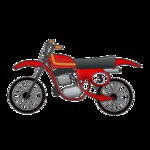 Imaginisce - Outdoor Adventure Collection - Snag 'em Acrylic Stamps - Dirt Bike